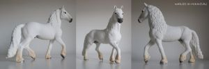 white Friesian stallion (special edition) by Worlds-in-Miniature