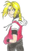 Old Ed Elric Drawing by HaishaHime