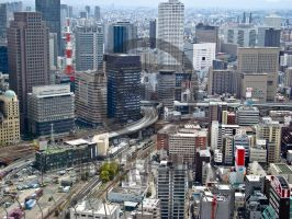 Osaka from Umeda Sky Building by Tomiko2011