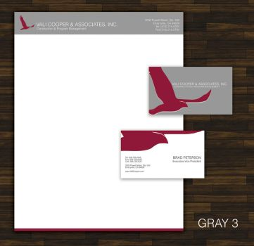 Corporate branding and design business card letter by ison