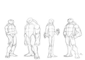 TMNT Unmasked Sketch by Chadwick-J-Coleman