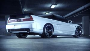 Honda NSX Back white by NasG85