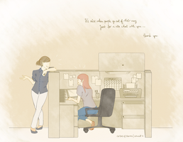office chat by cottonball