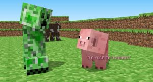 Creeper and Pig by AsasDebrilho