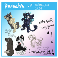 SIMPLE USD COMMISSION CHART by rainwolfeh