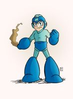 Last Mega Man of the summer with a splash of color by MegaRyan104