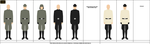 Galactic Empire Military officers service uniforms by YamaLama1986