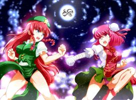 Meiling VS Kasen by makumaxu