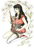 Tattoo-Motive Pin-up with a Gun by luca-seraphin
