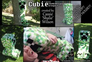 Cubie the Creeper plush by Shalie