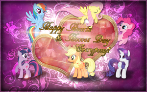 Hearts and Hooves Day Wallpaper by MLArtSpecter
