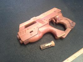 Wooden model M-6 Carnifex Hand Cannon by CaptViper