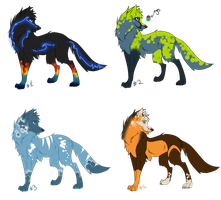 4 Wolves Points Adopts by xPixe