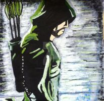 Green Arrow Painting by ComicConCatwoman