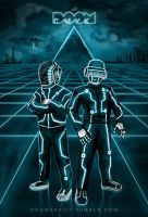 Daft Punk TRON drawing by DoomCMYK