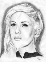 The last time I draw Ellie Goulding, I swear. by MichaelWarrenTaylor