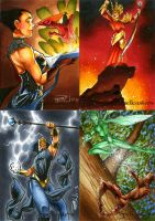 Spellcasters Sketch Cards 02 by RichardCox