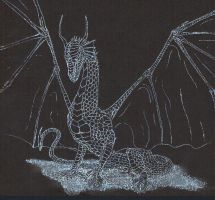Dragon on Black by Ranasp