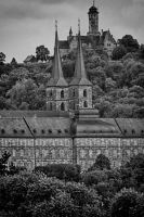 Saint Michael's Abbey and the Altenburg Castle by Ulliart