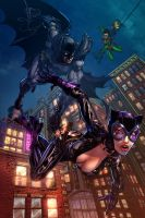 Batman and Catwoman_COLOR by vest
