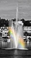 Rainbow in Fountain by Toni-R
