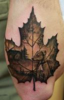 Maple Leaf- Tattoo Done by Sean Ambrose by seanspoison