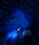 Blue Forest : commission for RainboHoodi by LupinHallow