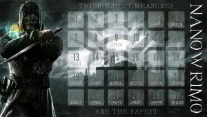 Dishonored NaNoWriMo Calendar by veryevilmastermind