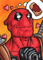 Deadpool Sketch Card by TheRigger
