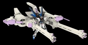 Lego M.E.T.E.O.R. Unit  and Strike Freedom Gundam by mithrylaltaire