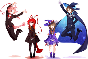 jumping wadanohara dads by PhantomMarbles