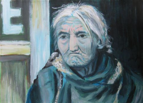 old woman by Cidranja
