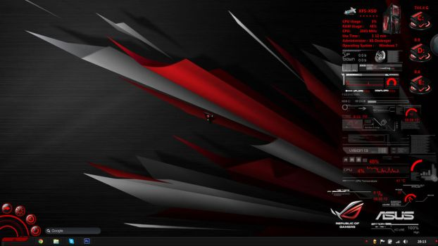 ASUS ROG Rainmeter by Jamezzz92