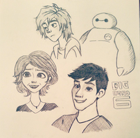 BIGHERO6 Family by live-young48