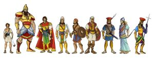 David and Goliath characters by CapnFlynn