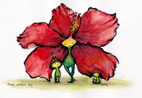 Troll - Hibiscus Troll by StacyLeFevre