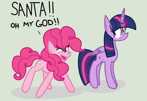 SANTA OH MY GOD by LittleCloudie