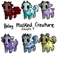 Baby Masked Creature Adopts 7~ CLOOSED.. by RCAdopts