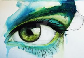 Green eye by Jess-needs-username