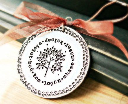 hand stamped ornament by yourcharmedlife