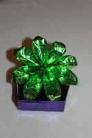 green origami flower by rayna23