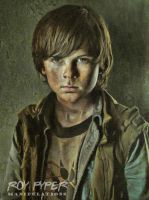 The Walking Dead: Carl: Oil Paint Re-Edit by nerdboy69