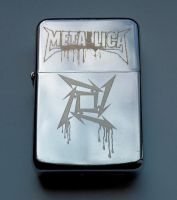 METALLICA - engraved lighter by Piciuu