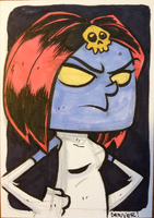 MYSTIQUE sketchcard sized color commission by thecheckeredman