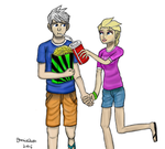Jack frost and elsa by garrick21cool