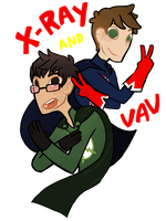 Achievement Heroes: X-Ray and Vav by AlmostMyself