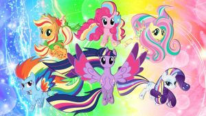 Mane Rainbow 6 by pegasister1000