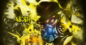 Yellow Graffiti by Wexxer