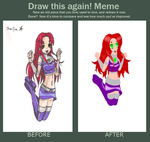 draw this again meme (Starfire) by SegaNut
