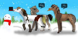 Foal's First Christmas by Mustang-Heart